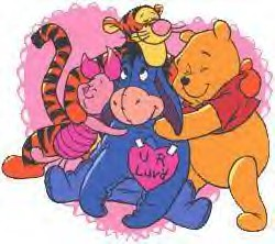 Pooh Valentines Clipart