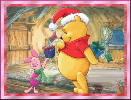 Pooh and Piglet Christmas Fun