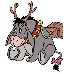 Eeyore Winter Holiday Fun